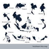 Mapa de Asia sudoriental Fotografía de archivo