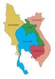 Mapa de Asia sudoriental ilustración del vector
