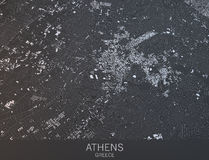 Mapa de Atenas, vista satélite, cidade, Grécia Fotografia de Stock Royalty Free
