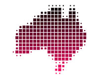 Mapa de Austrália Imagem de Stock