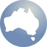 Mapa de Austrália ilustração stock