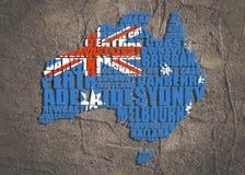 Mapa de Austrália Fotos de Stock Royalty Free