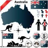 Mapa de Australia Foto de archivo libre de regalías