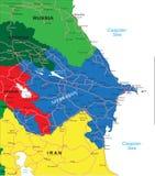 Mapa de Azerbaijan ilustración del vector