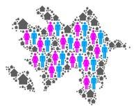 Mapa de Azerbaijan del Demographics ilustración del vector