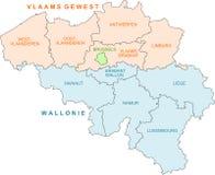 Mapa de Bélgica Ilustração Royalty Free