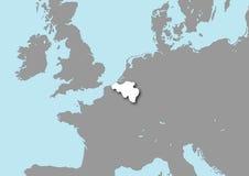 Mapa de Bélgica Imagens de Stock
