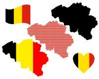 Mapa de Bélgica Fotografia de Stock Royalty Free