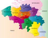 Mapa de Bélgica ilustração do vetor