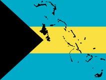 Mapa de Bahamas Imagens de Stock Royalty Free
