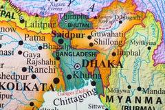 Mapa de Bangladesh imagem de stock royalty free