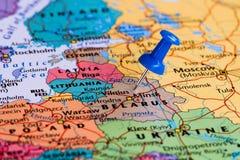 Mapa de Belarus Fotografia de Stock