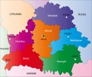 Mapa de Belarus Foto de Stock Royalty Free