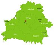 Mapa de Belarus do vetor Fotografia de Stock Royalty Free
