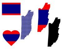 Mapa de Belize Imagens de Stock Royalty Free