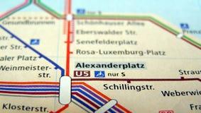 Mapa de Berlim U-Bahn Fotos de Stock