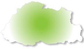 Mapa de Bhutan imagens de stock