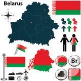 Mapa de Bielorrússia Fotos de Stock