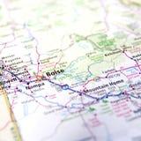 Mapa de Boise Fotografia de Stock Royalty Free