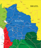 Mapa de Bolívia Fotografia de Stock Royalty Free