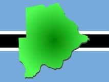 Mapa de Botswana Imagens de Stock Royalty Free