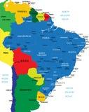 Mapa de Brasil Ilustração do Vetor