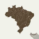 Mapa de Brasil Fotografia de Stock
