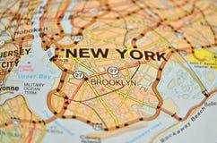 Mapa de Brooklyn imágenes de archivo libres de regalías