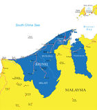Mapa de Brunei stock de ilustración