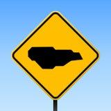 Mapa de Buck Island Reef no sinal de estrada ilustração royalty free