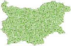 Mapa de Bulgária Fotografia de Stock Royalty Free