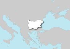 Mapa de Bulgária Imagem de Stock
