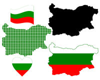 Mapa de Bulgária Fotografia de Stock