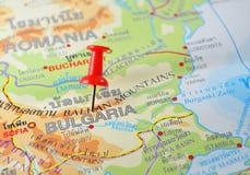 Mapa de Bulgaria Foto de archivo libre de regalías