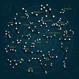 Mapa de céu com efeito 3D Foto de Stock Royalty Free