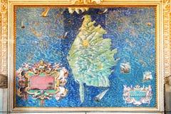 Mapa de Córcega Imágenes de archivo libres de regalías