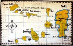 MAPA de Cabo Verde Foto de archivo libre de regalías