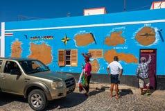 MAPA de Cabo Verde Imagem de Stock Royalty Free