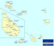 MAPA de Cabo Verde Imagen de archivo libre de regalías
