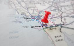 Mapa de Califórnia Fotos de Stock Royalty Free