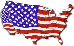 Mapa de Califórnia EUA Imagens de Stock Royalty Free