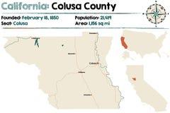 Mapa de California - del condado de Colusa stock de ilustración