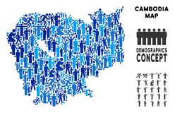Mapa de Camboya del Demographics libre illustration