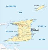 Mapa de camino de Trinidad and Tobago Fotografía de archivo