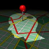 Mapa de camino humano Fotografía de archivo libre de regalías