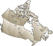 Mapa de Canadá Imagem de Stock Royalty Free