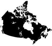 Mapa de Canadá Fotografia de Stock Royalty Free