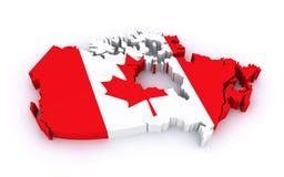 Mapa de Canadá Imagem de Stock