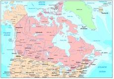 Mapa de Canadá Fotografia de Stock