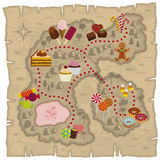 Mapa de Candyland ilustração royalty free